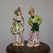 SALE Decorative Boy and Girl Figurines