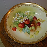SALE Handpainted Pickard Bowl Challinor Mixed Fruit