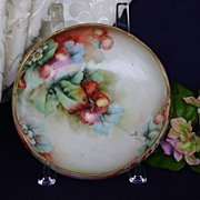 SALE Antique Limoge Handpainted Bowl with Strawberries