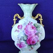 SALE Vintage Handpainted Limoges Vase Decorated with Roses