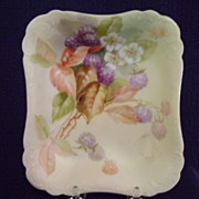 Antique Limoges Handpainted Candy Dish with Berries