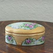 SALE Handpainted Trinket Box