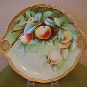 SALE Beautiful Ginori Handled plate with Cherries