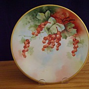 SALE Antique Limoges Handpainted Plate Decorated with Currants