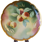 Handpainted Plate with Cherries by Pickard artist Heap