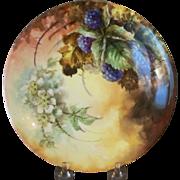Limoges Handpainted Plate with Blackberries