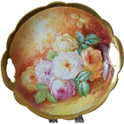 Handpainted Plate with Roses by Bronssillon