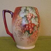 SOLD Vintage Handpainted Tankard Mug with Currants