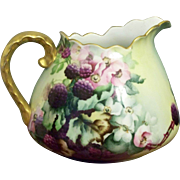 Handpainted Cider Pitcher with Blackberries