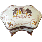 19th Century French Porcelain Jewelry Casket