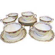 Set of 6 Paul Muller Selb Bavaria Cups and Saucers