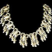 Vendome Gold Tone Bib Necklace on Bookchain