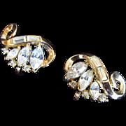 Trifari Alfred Philippe Rhinestone Earrings