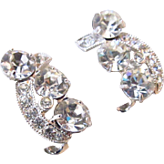 Eisenberg Ice Rhinestone Earrings Mint Condition