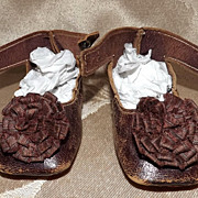 Lovely Keystone Doll Shoes With Rosettes