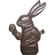 SALE Alice In Wonderland White Rabbit Character Cast Iron Doorstop