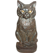 SALE Great Old Cast Iron Cat Doorstop