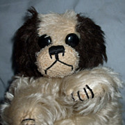 Adorable Mohair King Charles Spaniel Dog Hand Puppet