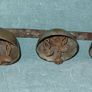 SALE Great Early Primitive Sleigh Bells In Graduated Sizes