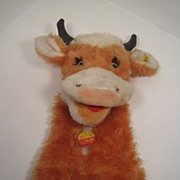 SALE Udderly Fantastic Steiff Cow Hand Puppet