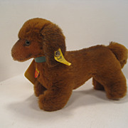 Steiff's Soft Plush Hexie Dog With All IDs