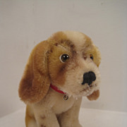 SOLD Steiff's Baby Basset Dog With ID - Red Tag Sale Item