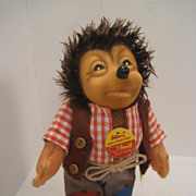 Smallest Steiff Mecki Hedgehog Doll In Pristine Condition with All IDs