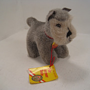 Steiff's Small Woven Plush Harro Schnauzer With IDs