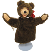 Steif's Teddy Baby Puppet With ID