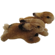 A Pair of Steiff's Smallest Hoppy Rabbits With ID