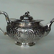 Absolutely superb rare Irish sterling teapot c. 1821