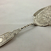 Beautiful coin silver cake server