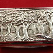 Interesting Glasgow snuff box by John Mitchell c. 1850s