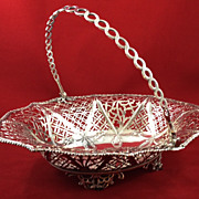 Very large beautiful sterling basket by S. Herbert c. 1768