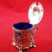 Beautiful Hanau 800 silver mustard pot