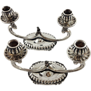 Cute pair of Italian sterling silver candelabras