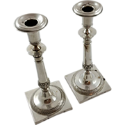Pair of German 800 candlesticks c. 1819-1842