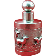 Indian sold silver perfume holder