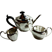 Wonderful English sterling silver teaset c. 1931