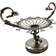 Beautiful 800 silver German spooner in the form of a mermaid, early 19th century