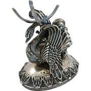 Beautiful 800 silver swan bowl holder, German