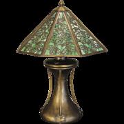 Fabulous Early Bradley & Hubbard Art Nouveau Slag Glass Lamp