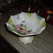 SALE Marked RS Prussia Bon Bon Pedestal Bowl or Candy Dish