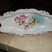 SALE Large Germany Celery Dish with lovely Floral Motif