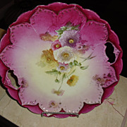SALE Lovely Germany 10 inch Cake Plate Floral Motif