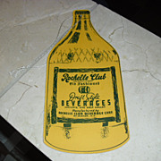 Rochelle Club Draft Style Beverages Advertising Fan Pull Sign