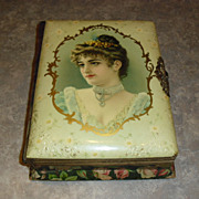 SALE Circa 1890's Celluloid Photo Album with Working Music Box