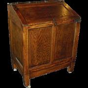SALE Antique Mercantile Oak Blanket Chest storage Bin