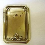 Art Nouveau Sterling Match Safe