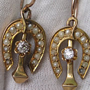 Victorian Horseshoe and Nail Earrings
